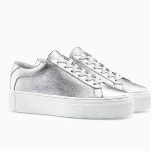 Koio Platform Silver Sneaker NEW